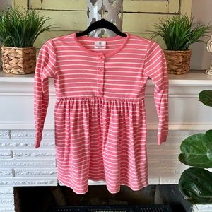 Hanna Andersson Pink Striped Long Sleeve Dress